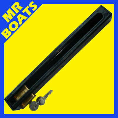 OUTBOARD MOTOR LOCK - Complete with BRASS LOCK - Suits up to 40hp outboard NEW