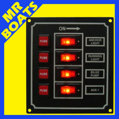 4 SWITCH PANEL / BOAT / MARINE Navigation Stern lights Illuminating FREE POSTAGE