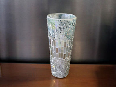 6 x Hurricane flower Vase Mosaic 12 x 25cm Bulk Wholesale lot reduced to clear
