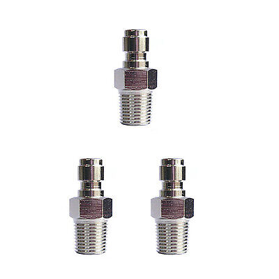 """New 3pcs Paintball Male Quick Disconnect Adaptor 1/8"""" NPT"""