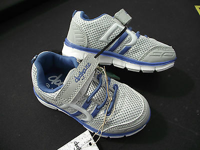 BNWT Little Girls Sz 9 Rivers Doghouse Grey and Blue Tab Athletic Jogger Shoes