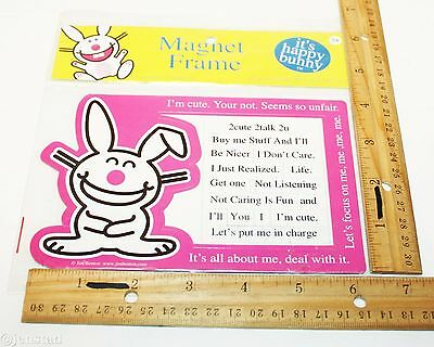 15 Pc Magnetic Set Its Happy Bunny Make A Happy Phrase Magnet Collection 6.5X4.2