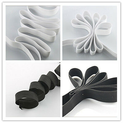 1 Set White & Black Knit Elastic Band Sewing Carft Length 1.5mX2 Width 2cm