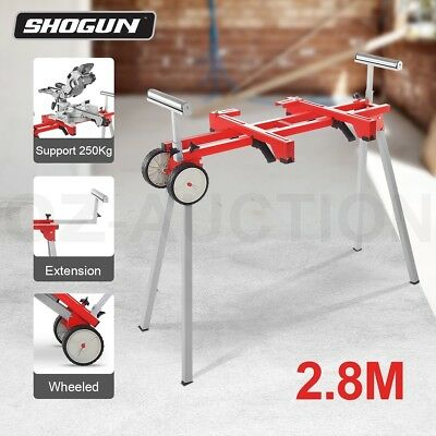 Easy to Carry & Extendable Miter saw Bench with X2 wheels