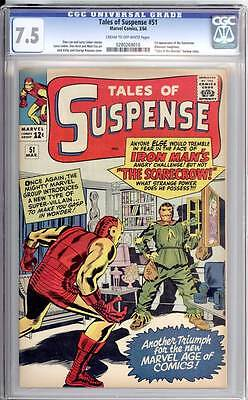 Tales of Suspense # 51  What Power has the Scarecrow ?   CGC 7.5 scarce book !