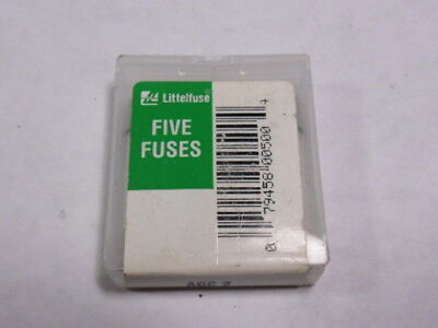 Littelfuse AGC-2 Miniature Fuse 2A 250V 5-Pack ! NEW !