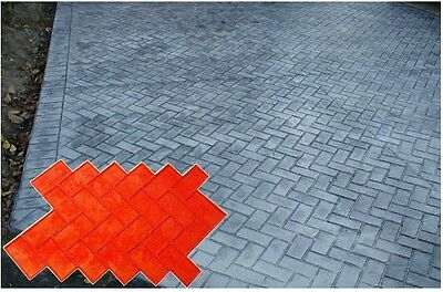 4 New Brick Herringbone Decorative Concrete Cement texture Stamps Mats Tools