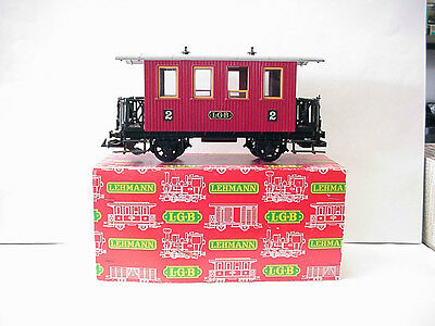 LGB (Lehmann-Gross-Bahn) 'G' Scale Red 2nd Class Coach Passenger Car # 3000