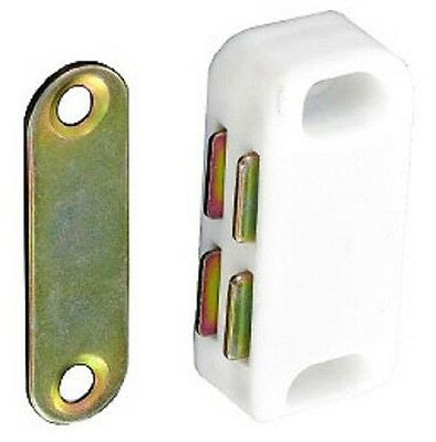 Magnetic Catch Cupboard Door Latch White Cabinet Catch Magnet Strong Small