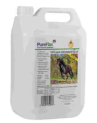 PureFlax Flax Seed Oil for Horses 5 litre Bottle