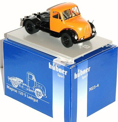 Hübner 1:32 7023-4 Magirus 120 S Load in orange -NEW + OVP
