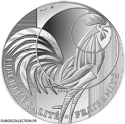 France Francia New 10 € Euro Coin Silver Coq Rooster 公鸡 2016 !!!