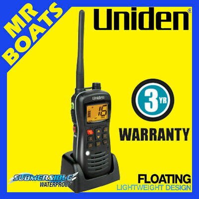 UNIDEN ✱ MHS127 ✱ HANDHELD VHF MARINE 5 Watts RADIO Waterproof AUS CERTIFIED NEW