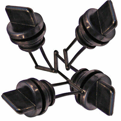 4 x REPLACEMENTS BOAT BUNGS ONLY ✱ COARSE THREAD ✱  MARINE BUNGS STD SIZE DRAINS