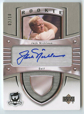 Jack Nicklaus 2012 13 Ud The Cup Sidney Crosby Rookie Tribute Auto Autograph /10