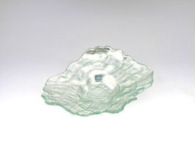 12 x Oyster Shell Shape Laser glass Plate 21cm Bulk Wholesale lot reduced to cle