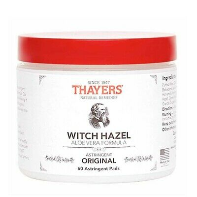 Thayers Witch Hazel Original Astringent Pads Mens Skin Cleanser Aloe Vera Toner