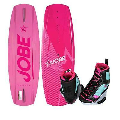 Jobe Vanity Pink Girls Wakeboard Package with Cloud Boots Bindings 131cm