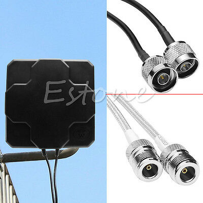 Panel Flat Outdoor Antenna Signal Amplifier 4G for Wifi Network Wireless Router