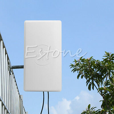4G High Gain LTE Panel Flat Outdoor Antenna for Wifi Network Wireless Router New