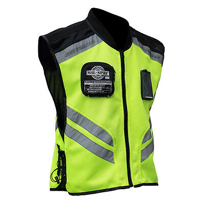 Motorcycle Riding MIL SPEC Mesh High Visibility Neon Reflective Racing Vest