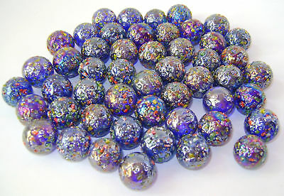 NEW 50 GLITTERBOMB 16mm GLASS MARBLES TRADITIONAL GAME or COLLECTORS ITEMS HOM