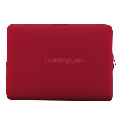 """Zipper Soft Sleeve Laptop Bag Carrying Case for MacBook Air 11""""/13""""/15""""inch Red"""