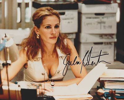 2000 erin brockovich SIGNED 8X10 COLOR MOVIE PHOTO REPRINT JULIA ROBERTS