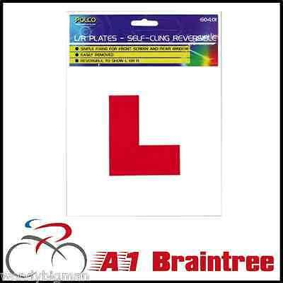 2x SELF CLING L PLATES - WINDOW INTERIOR TEST LEARNER PLATE DRIVER STICK ON