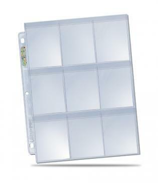 Ultra Pro - 9-Pocket Secure Pages for Standard Sized Sleeves x 100