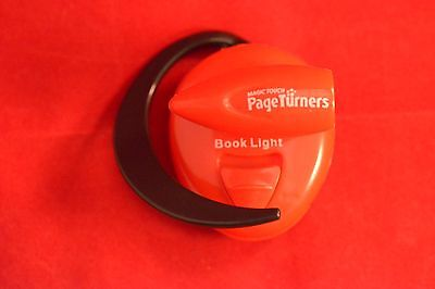 Magic Touch Page Turners Red LED Clip On Ear Book Reading Light