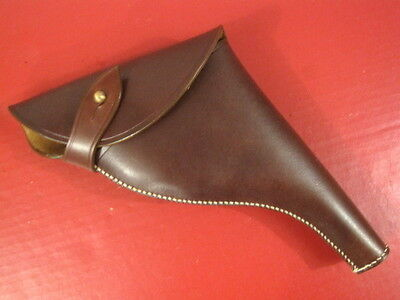 WWII Era British Army Leather Holster for Webley Mk IV .38 Revolver -  Repro