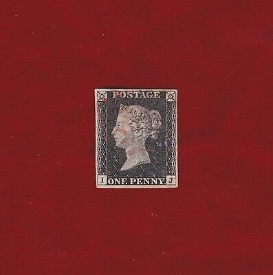 GB 1840 1d SG 1, Very fine four margins, Fine Used, Red Cross, #1