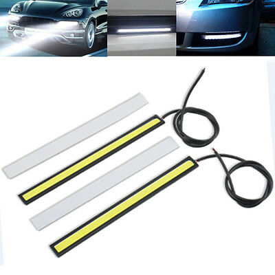 2 Super Bright White Car COB LED Lights DRL Fog Driving Lamp Waterproof DC 12V