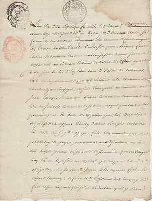 this is an Original 17th century Legal document from FRANCE, dated  10.23.1797