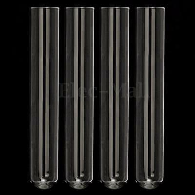 """4Pcs 150 mm Pyrex Glass Blowing Tubes 6"""" Inch Long  2 mm Thick Wall Test Tube"""