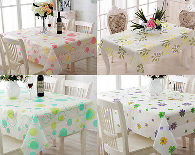 Wipe Clean PVC Vinyl Tablecloth Dining Kitchen Table Cover Protector 130*180cm