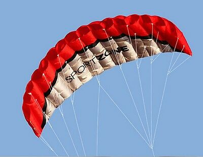 Outdoor Toys Dual Line Parafoil Parachute Stunt Sport Beach RED Kite 2.5m PP1