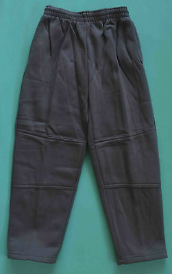 NEW Fleece Pants unisex School Uniform Double Knee Grey Size 5,6,8,10,12,14,16