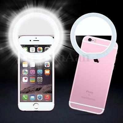 Selfie Portable LED Ring Flash Fill Light Clip Phone Camera For All Mobile Phone