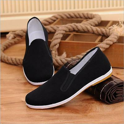 Handmade Chinese Kung Fu Tai Chi Traditional Cloth Cotton Shoes Non-slip Black