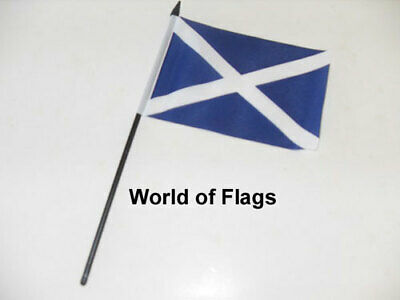 "ST ANDREWS SMALL HAND WAVING FLAG 6"" x 4"" Dark Blue Scotland Andrew Cross Table"