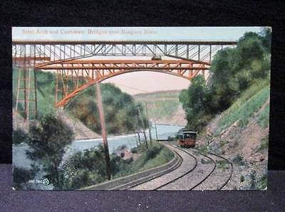 Steel Arch & Cantilever Bridge over Niagara River #102961JV Vintage Postcard