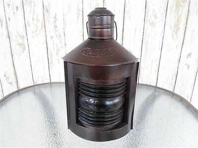 "12"" Metal Starboard Lantern ~ Ship Oil Lamp ~ Nautical Maritime ~ Boat Light"