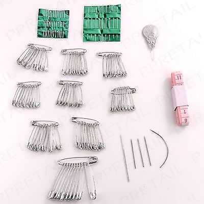 Sewing Set ASSORTED SIZES Tailoring Dressmaking Kit Safety Pins/Needles/Tape