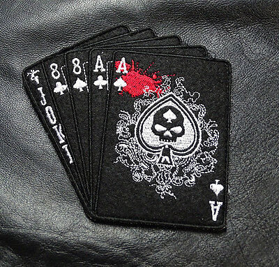 Dead Man's Hand Aces Tactical Combat Military Morale Army Hook Patch