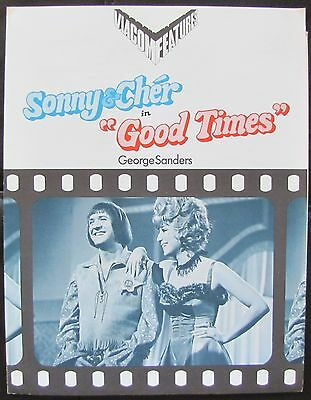 GOOD TIMES Sonny & Cher George Sanders RARE TV RELEASE PRESSKIT & PHOTOS