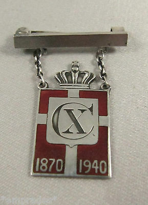 1940 Georg Jensen King Christian X Kingmark pin Arno Malinowski