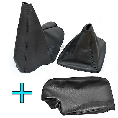 Cover Knob + Brake Of Hand + Armrest Bmw E46 Compact Boot Gaiter Cuir Gear