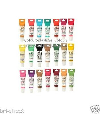 Colour Gel Food Colouring 25g Tube - Buttercream Fondant Icing Marzipan Cake Mix